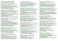 Unsere Angebote ab Januar 2013:
