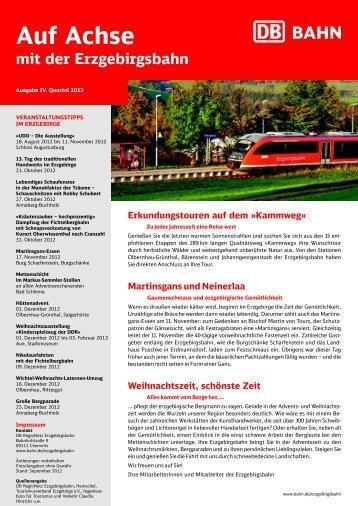 Ausgabe IV. Quartal 2012 - Erzgebirgsbahn