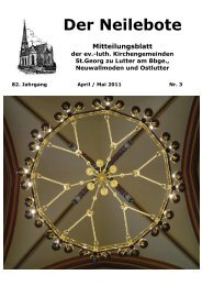 Der Neilebote April - Mai 2011 - pfarrverband-lutter.de