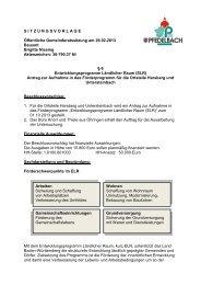 6 - Entwicklungsprogramm Ländlicher Raum (ELR) - Gemeinde ...