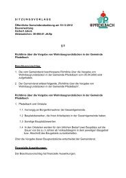 Richtlinie über die Vergabe von Wohnbaugrundstücken - Gemeinde ...