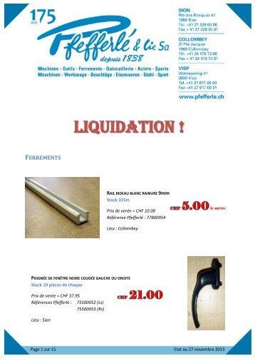 LIQUIDATION !