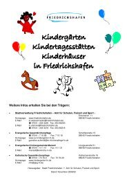 Kindergärten Kindertagesstätten Kinderhäuser in Friedrichshafen