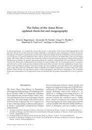 The fishes of the Amur River - Verlag Dr. Friedrich Pfeil