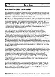 Stephan Winkler: Stephan Winkler: DAS LIED ... - Edition Juliane Klein