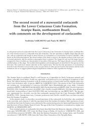 The second record of a mawsoniid coelacanth from the Lower ...
