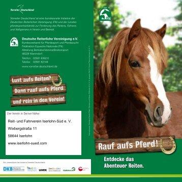 Rauf auf´s Pferd