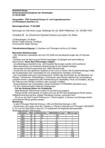 - Landesverbandes Pferdesport Sachsen