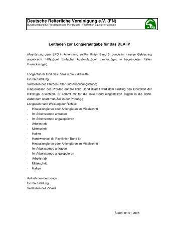 Longieraufgabe - Landesverbandes Pferdesport Sachsen