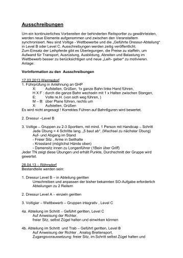 Ausschreibungen - Landesverbandes Pferdesport Sachsen
