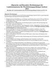 Allgemeine und Besondere Bestimmungen der Landeskommission ...