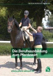 Die Berufsausbildung zum Pferdewirt/Pferdewirtin - FN Verlag