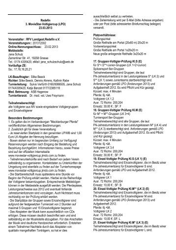 Redefin 23.03.13 Volti - Pferdesportverband-MV