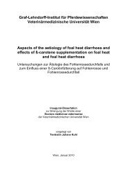 Zusammenfassung der Dissertation - Pferdewissenschaften