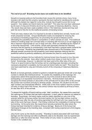 further information - Pferdewissenschaften
