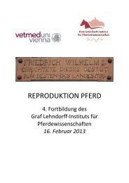 REPRODUKTION PFERD - Veterinärmedizinische Universität Wien