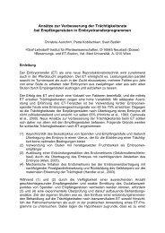 (2009) Ansätze zur Verbesserung der Trächtigkeitsrate bei ...
