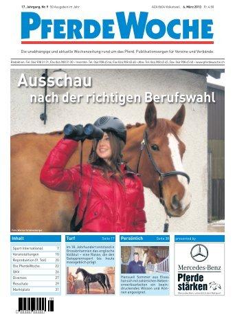 1. Teil: Pferdeberufe im Umbruch - PferdeWoche