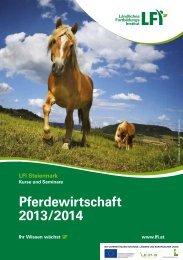 1 Pferdewirtschaft 2013/2014 - Pferdezucht Austria