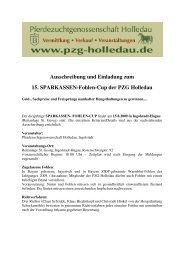 Auschreibung 15 Sparkassen Fohlen-Cup 2009 AL - bei der ...