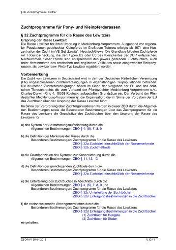 32 - Lewitzer - Pferdezuchtverband Mecklenburg-Vorpommern