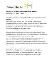 Erster Langer Tag der Bildung im Schöneberger Norden