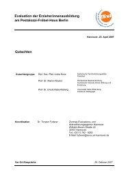 Evaluation der Erzieherinnenausbildung am Pestalozzi ... - ZEvA