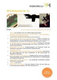PFH-Newsletter Nr. 14 Inhalt - Das Pestalozzi-Fröbel-Haus