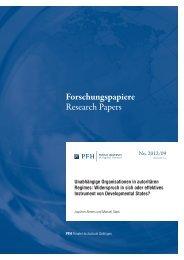 Unabhängige Organisationen in autoritären Regimes - PFH Private ...