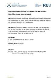 Kognitionstraining: Der alte Mann und das Pferd – Kognitive ... - PFIFF