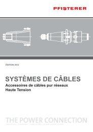 Catalogue Systemes de Cables CS FR 2012 - Pfisterer