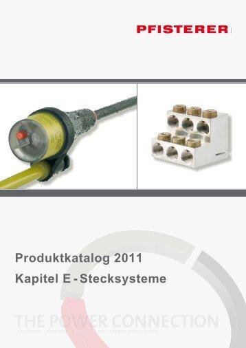 Produktkatalog 2011 Kapitel E - Stecksysteme - Pfisterer