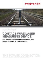 CONTACT WIRE LASER MEASuRING DEVICE - Pfisterer