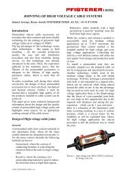Jointing of High Voltage Cable Systems - Pfisterer