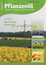 Ausgabe 2010-1 - Pflanzenöl Fachmagazin: Willkommen