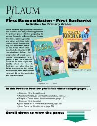 First Reconciliation Reproducibles - Pflaum Home
