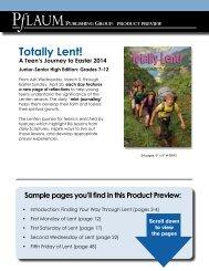 Totally Lent! - Pflaum Home
