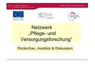 """Netzwerk """"Pflege- und Versorgungsforschung"""""""