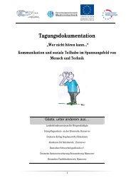 Tagungsdokumentation - Fakultät V - Hochschule Hannover