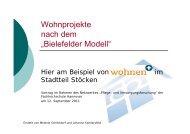 Vortrag zum Projekt - Netzwerk - Pflege und Versorgungsforschung