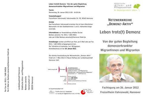 Leben trotz(t) Demenz - Netzwerk - Pflege und Versorgungsforschung