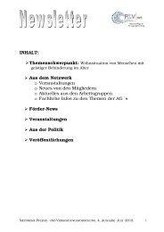 Newsletter Ausgabe 4 Juli 2012 - Netzwerk - Pflege und ...