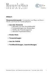 Newsletter Ausgabe 7 April 2013 - Netzwerk - Pflege und ...