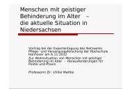 Präsentation Prof. Dr. Ulrike Mattke, Hochschule Hannover