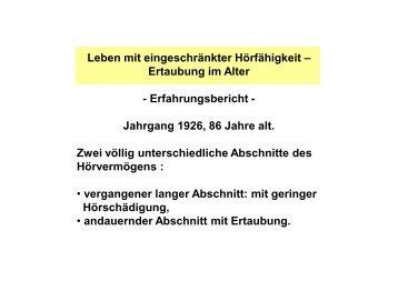 Erfahrungsbericht Dieter Meier - Netzwerk - Pflege und ...