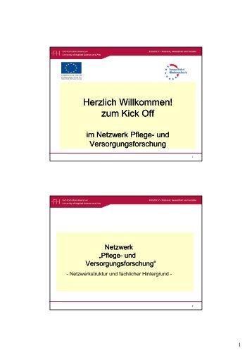 Netzwerkpräsentation - Netzwerk - Pflege und Versorgungsforschung