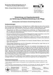 Entwicklung von Expertenstandards in der Pflege - Schwerhoerigen ...