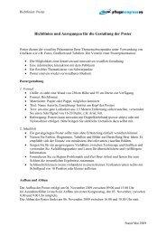 Richtlinien und Anregungen für die Gestaltung der Poster