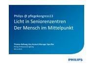 Licht in Seniorenzentren Der Mensch im ... - pflegekongress13
