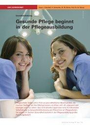 (PDF) Gesunde Pflege beginnt in der Pflegeausbildung - Pflegeportal